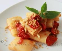 Paccheri con pomodori caramellati